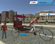 City public cycle rickshaw driving simulator online