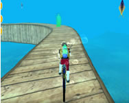 Underwater bicycle racing tracks bmx impossible stunt online